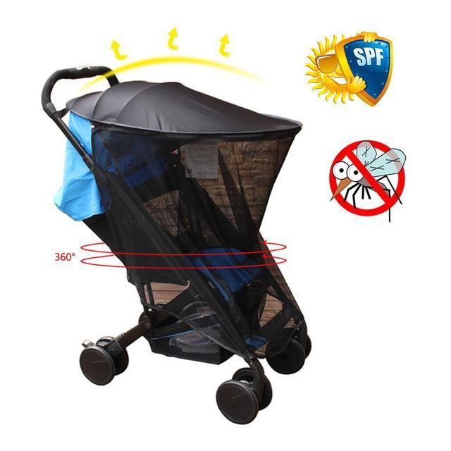 UV Ray Sun Visor Shade Canopy Mosquito Net For Baby Buggy Stroller Cover Pram Seat Sunshade Pushchair Car Cover Sun Hood S3