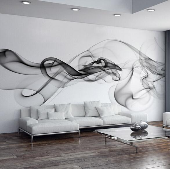 Custom 3D Photo Wallpaper Smoke Clouds Abstract Artistic Wall Paper Modern  Minimalist Bedroom Sofa TV Wall Mural Paper Painting In Wallpapers From  Home ...