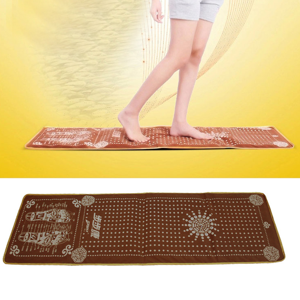 Natural Cobblestone Foot Massage Pad Health Equipment For The Elderly Health Supplies Foot Massager Acupuncture Stone Yoga Mat the health gap