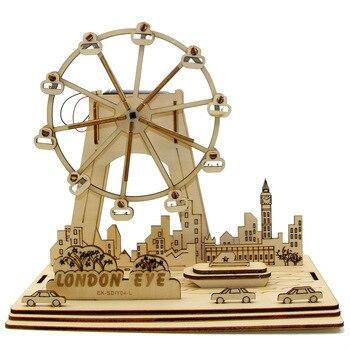 Solar Ferris Wheel Wooden DIY Toy