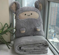 hot selling cute nap pillow car pillow quilt dual-use blanket pillow