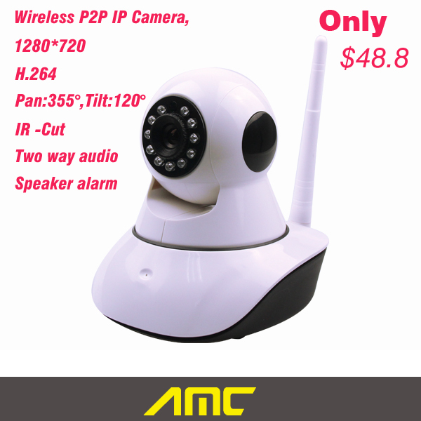 Wireless Mini IP Camera Security CCTV HD 720P IR LED 1 Megapixel Camera Support P2P 64G SD Card Pan Tilt Wifi Camera wireless network ip security camera 720p hd ip camera p2p ir cut night vision pan tilt two way audio support 64gb micro sd card