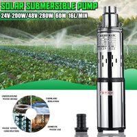 High Lift 60m 24v/48V Solar Water Pumph Deep Well Pump DC Screw Submersible Pump Irrigation Garden Home Agricultural