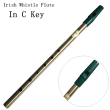 Irish Whistle Flute C key Ireland Flute Feadog Brass Tin Pennywhistle Metal Pocket Feadan 6Hole Musical Instrument Free Shipping