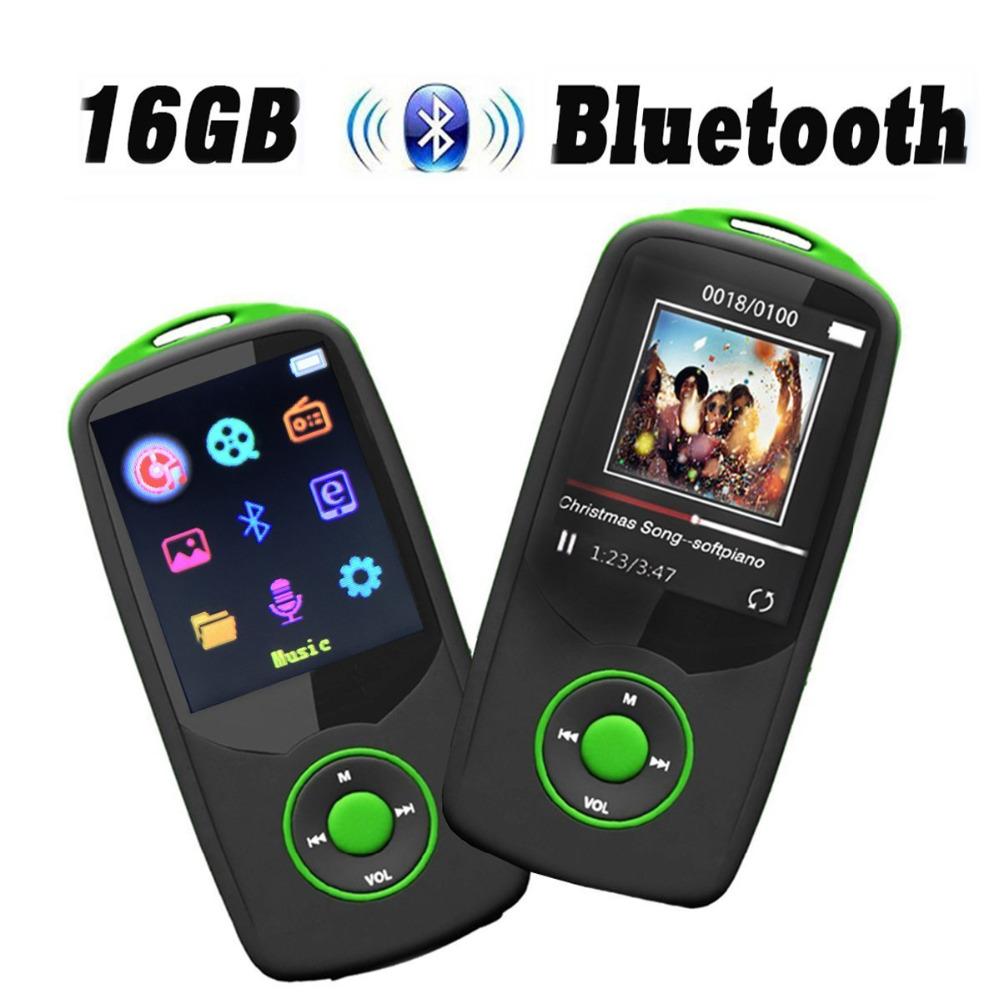 Original RUIZU-X06 MP3 Music Player with Bluetooth4.0 16GB MP3 Player Upgraded Color Menu Page Display Support 64GB Micro SD