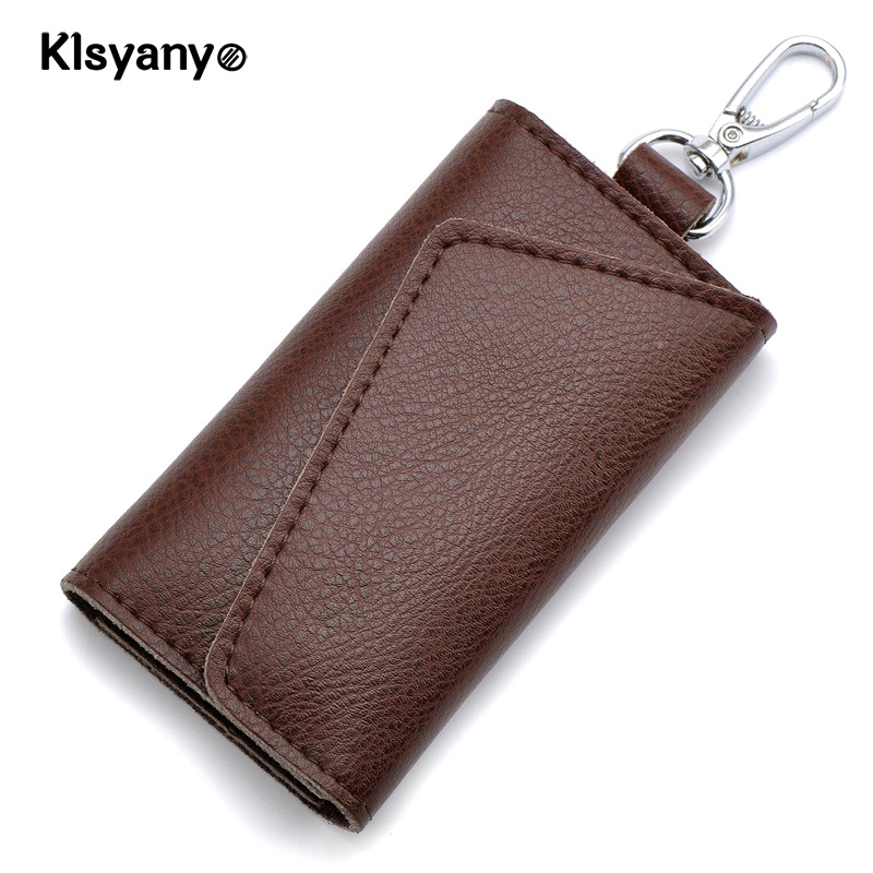 Klsyanyo Genuine Leather Men Key Wallet Car Key Bag Coin Purse Keychain Women Housekeeper Card Holder Wrap картридж для лазерного принтера brother tn2175