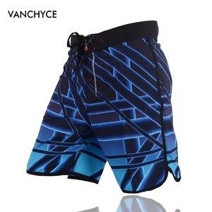 Image 4 - Vanchyce Estate Shorts Uomini Pantaloncini da Surf Costumi da Bagno di Marca Degli Uomini Della Spiaggia Shorts Uomini Bermuda Quick Dry Dargento Del Bordo Degli Uomini di Shorts