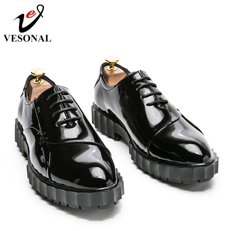 Black Para Hombres Brogue Marca Negocios Zapatos Vintage blue Hombre Shoes Vesonal Cordones De Moda Adultos Los Casuales 2018 63113 Shoes Calzado Vestir XUwxSvq