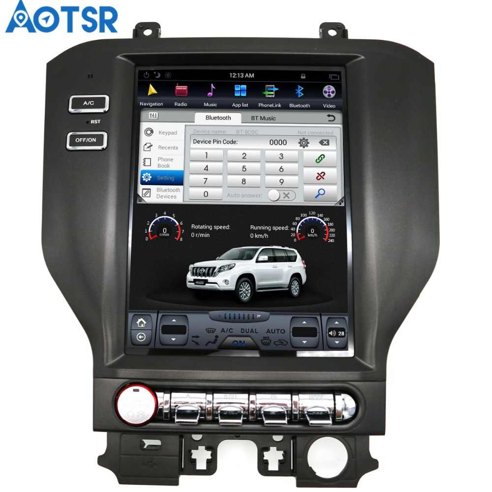 hight resolution of aotsr android 7 1 tesla style car no dvd player gps navigation for ford mustang 2015 2016