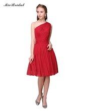 Short Dresses For Wedding Party Beach Chiffon Bridesmaid Dress Knee-Length Robe Demoiselle d'honneur RQE-52