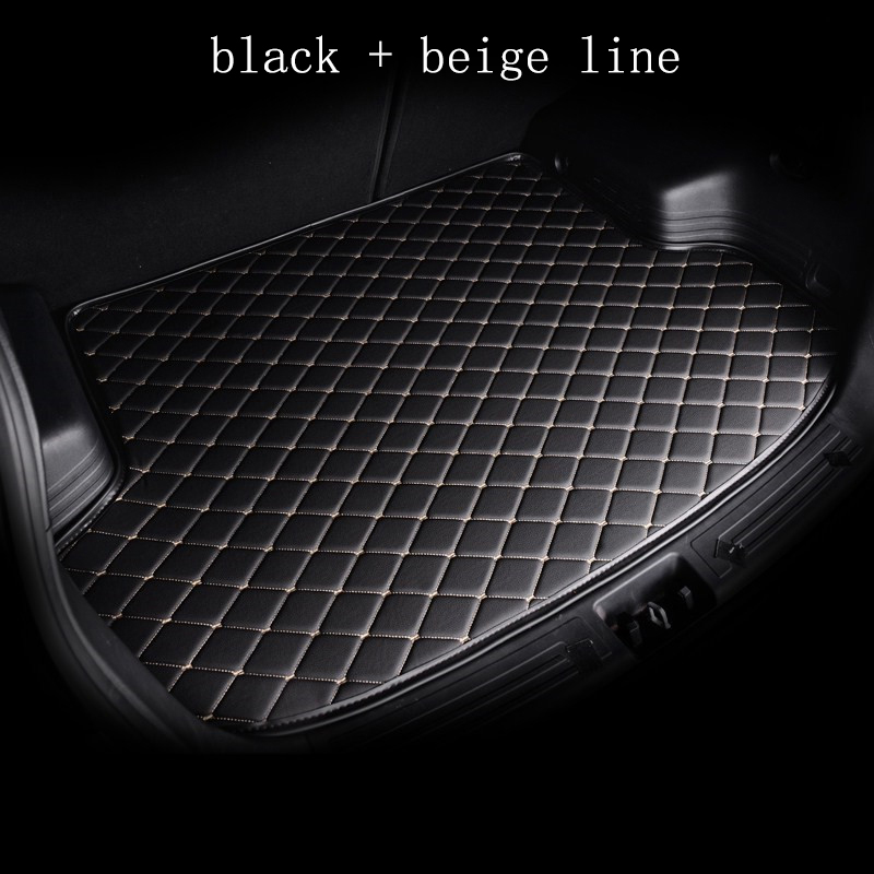 kalaisike custom car mat trunk for Volkswagen All Models polo golf 7 tiguan touran jetta CC beetle vw custom cargo liner car rear trunk security shield cargo cover for volkswagen vw polo 2002 2010 high qualit black beige auto accessories