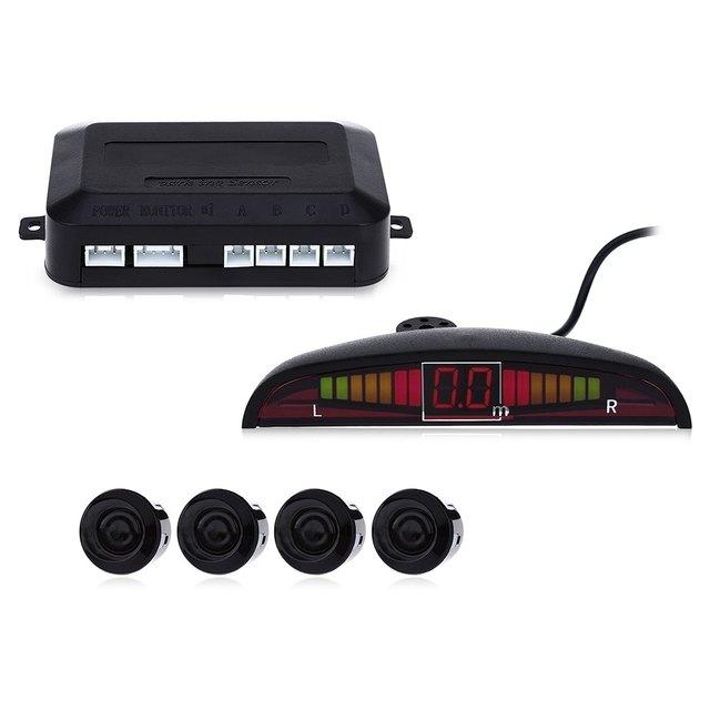 Hot Car Parktronic LED Parking Sensor Reverse Backup Auto Parking Radar Monitor Detector System Backlight Display With 4 Sensors