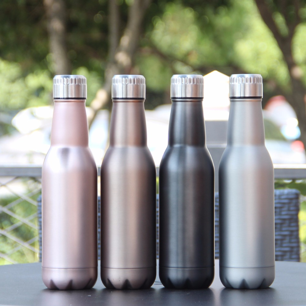 500ml Creative thermos stainless steel Vacuum insulation water bottle Cola Bottle fashion wine beer termos