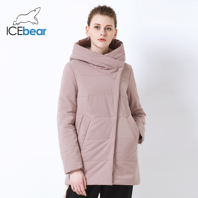 ICEbear 2019 אביב חדש גבירותיי מעיל windproof חם קצר מעיל רוכסן עיצוב גבוהה באיכות נשים של בגדי GWC19508I