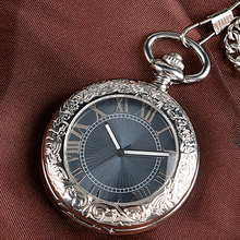 Xmas Gift Luxury Watch Men Relogio Digital Steampunk Pocket Watch Clock Vintage Self Wind Stylish Gray Dial Automatic Mechanical