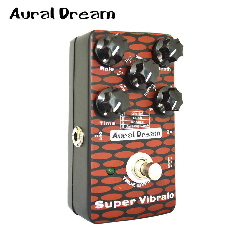 aural dream super vibrato 6 different waveforms digital guitar effect pedal with 4 vibrato and. Black Bedroom Furniture Sets. Home Design Ideas