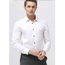 The latest men shirt  comfortable groom wedding shirt high quality white contracted formal shirt business shirt long sleeve