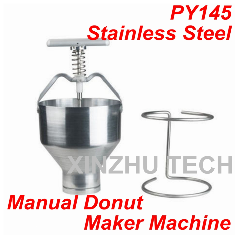 New Arrival Stainless Steel Manual Donut Maker Machine Depositor Medu Vada Dropper Plunger Dough Batter Dispenser Hopper цена