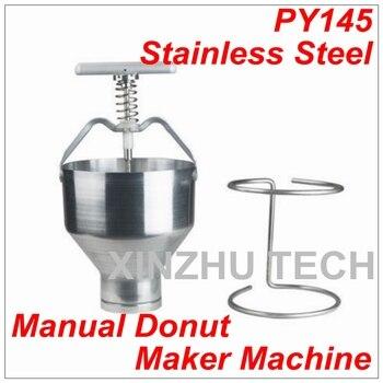 New Arrival  Stainless Steel Manual Donut Maker Machine Depositor Medu Vada Dropper Plunger Dough Batter Dispenser Hopper