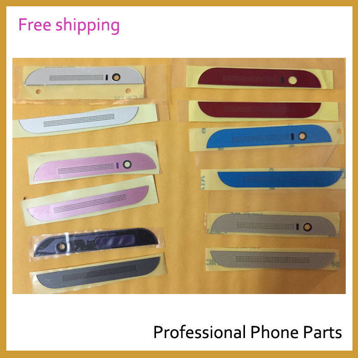 Original Top Bottom Cover For HTC One M8 Housing Front Cover Cap+Adhensive, Black/Sliver /Red /Blue /Gold, Free Shipping
