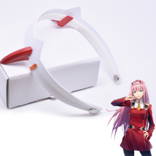 DARLING In The FRANXX 02 ZERO TWO Headwear Hairpin Cosplay Prop Costume Accessories Hairpins