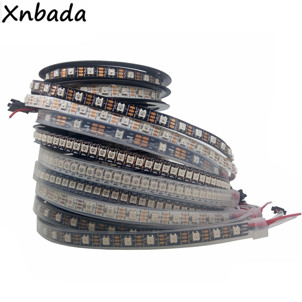 1m 2m 3m 4m 5m WS2812B WS2812 Led Strip,Individually Addressable Smart RGB Led Strip,Black/White PCB Waterproof IP30/65/67 DC5V1m 2m 3m 4m 5m WS2812B WS2812 Led Strip,Individually Addressable Smart RGB Led Strip,Black/White PCB Waterproof IP30/65/67 DC5V