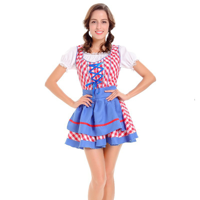 d6368cb7caf US $18.27 35% OFF|Hot German Beer Costume Carnival Bavarian Halloween  Costumes For Women Adult Role Playing Games Dirndl Oktoberfest Fancy  Dress-in ...