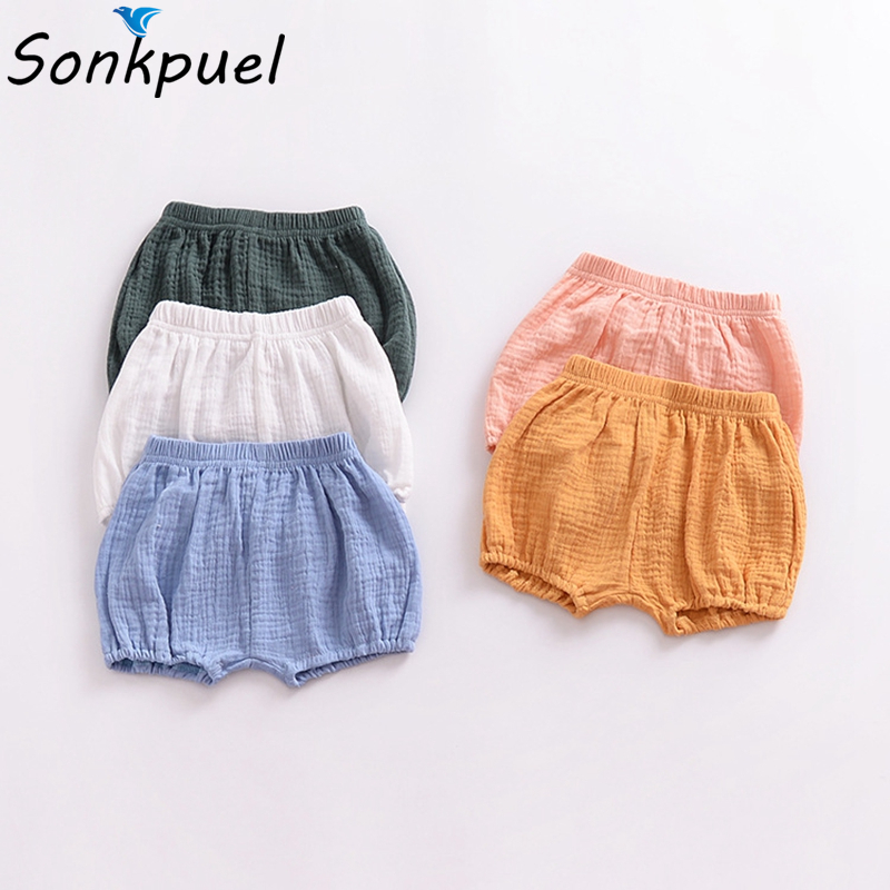 0-3Y Toddler Girl Bread Pants Kid Boy Cotton Bedding Bloomers Baby Clothing Summer Bottoms Playsuit Clothes Infant Big PP   Shorts