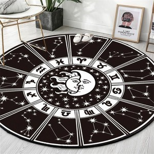 Round Carpet Constellation Astrolabe Printed Soft Carpets for Living Room Anti-slip Rug Chair Floor Mat for Home Decor Kids Room(China)
