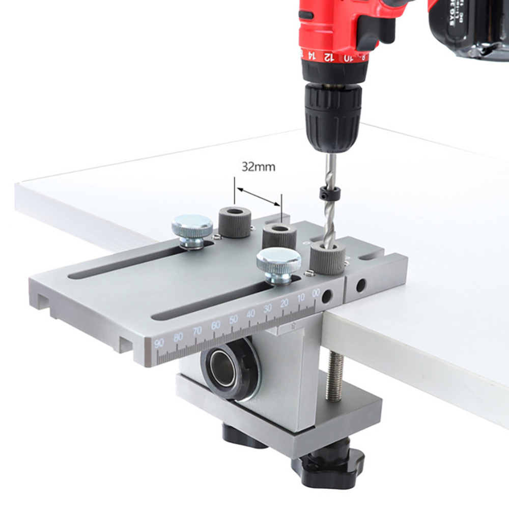 3 In 1 Dowelling Jig For Furniture Fast Connecting Cam Fitting Woodworking Drill Guide Kit Locator