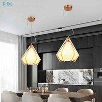 Nordic Modern Simple Personality LED Hang Lamp Creative Iron Pendant Lights Bar Lounge Living Room Coffee Shop Balcony Lighting