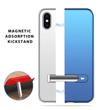 Splice Magnetic Adsorption Kickstand Protective Case For iPhone XS Max X 6 6S 7 8 Plus Slim Hard PC Phone Cool Cover