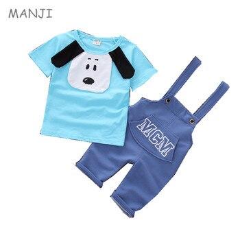 283a0c0d4 Ropa de bebé niño verano nueva moda estilo perro de algodón material de alta  calidad de la ropa de los niños sest A010 bebé niños ropa