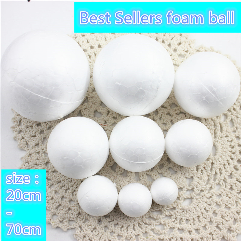 9 Kinds Different Size Polystyrene Styrofoam Foam Ball White Craft Balls For DIY Christmas Party Decoration Supplies Gifts