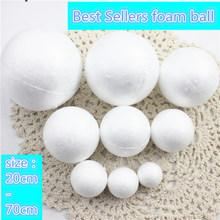 9 rodzajów różnej wielkości styropianowe kulki z pianki piłka białe kulki rzemiosła dla DIY Christmas Party materiały dekoracyjne prezenty tanie tanio different 4 sztuk