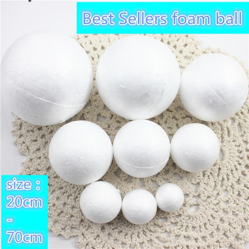 9 видов разных размеров пенополистирол пенопласт пены мяч белый авторские шары для DIY для рождественской вечеринки украшения поставки подарки
