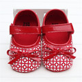 Summer Baby Shoes Girls Princess Footwear Bow Girl Shoes First Walkers Plaid Check PU Leather  Soft Sole Sapatos Size 0-18M