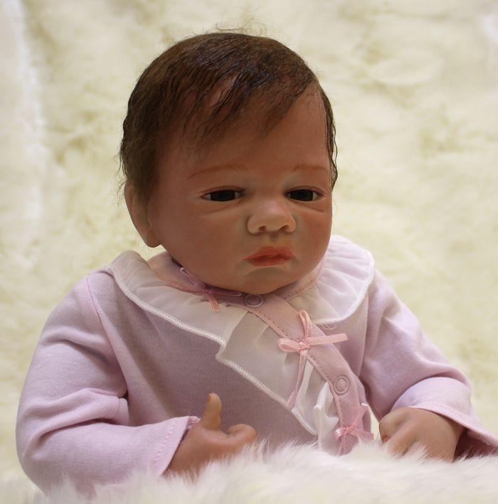 цены на 45 cm silicone reborn doll for girls toys 18 inch handmade vinyl baby dolls toys kids New Year's toys baby reborn dolls for sale