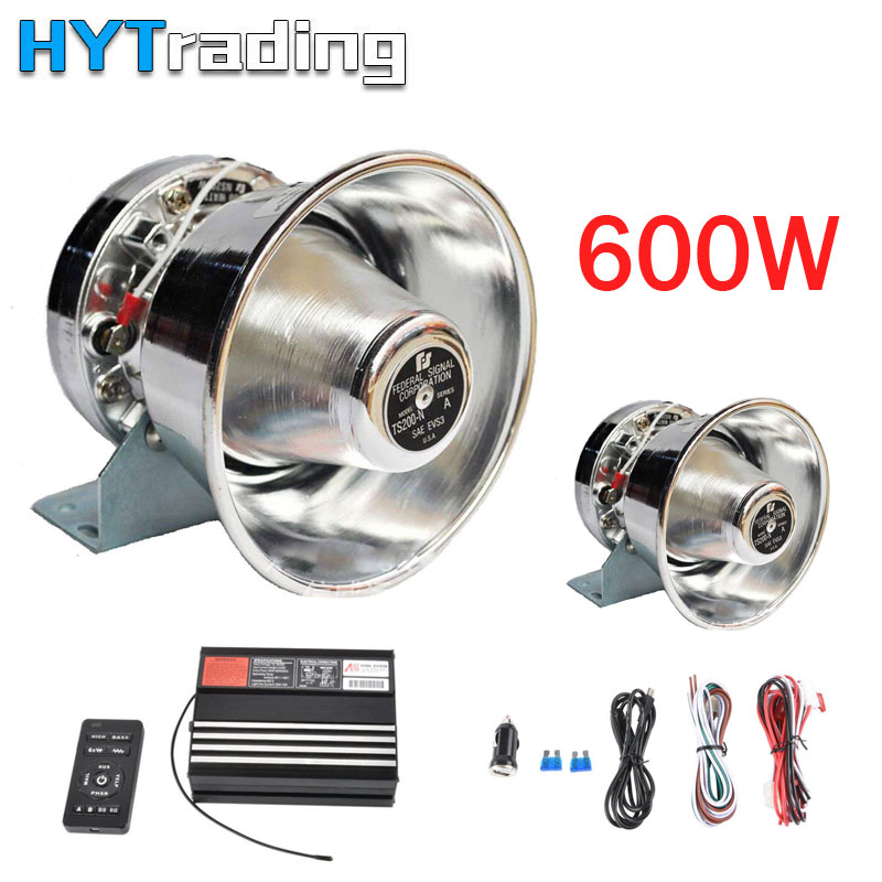 Loud Car Horn >> Car Horns 600w 8 Sound Loud Car Auto Warning Alarm Police Onetime