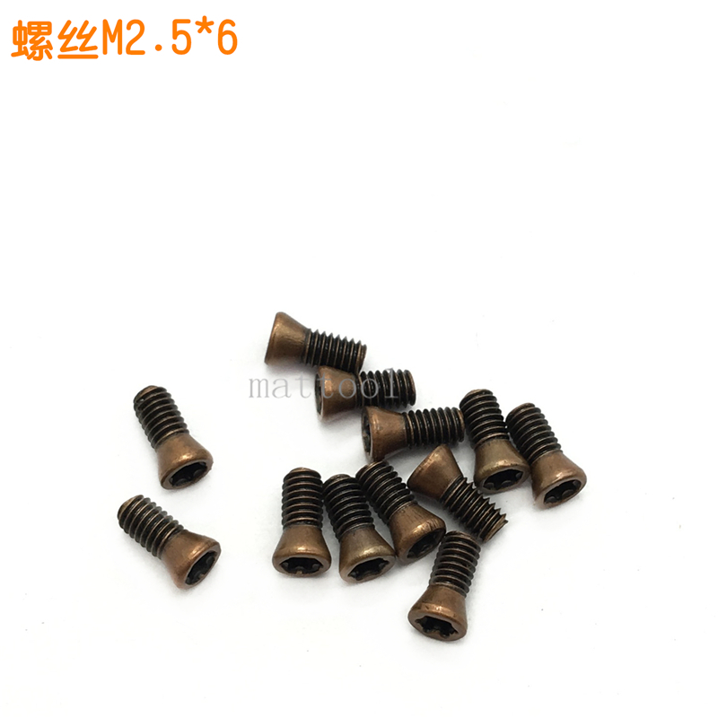 100pcs M2.5 * 6 Insert Torx Screw Replacement Carbide Blade CNC Accessory Lathe Blade Screw Accessory M2.5X6 Of Cnc Lathe Tools
