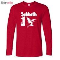 New Autumn Winter Heavy Metal T Shirts Mens Black Sabbath Paranoid Tee Shirts Long Sleeve Top
