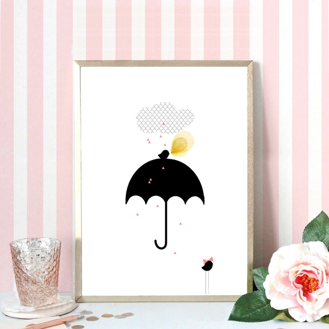 Art Print Cute Canvas Painting Poster Cartoon Picture Child Baby Bedroom Wall Art