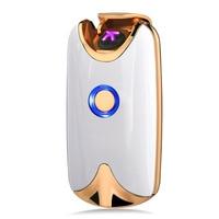 Latest Rechargeable Windproof Cigarette Lighter High End Gadget For Men Lighter Flameless Electric Fashion Plasma Lighter