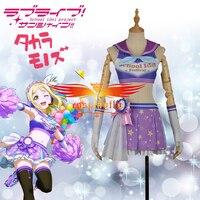 LoveLive!SunShine!! Aqours Mari Ohara Cheering Squad Cheer team Cheerleaders Awakening Cosplay Costume Adult Women Skirt Top