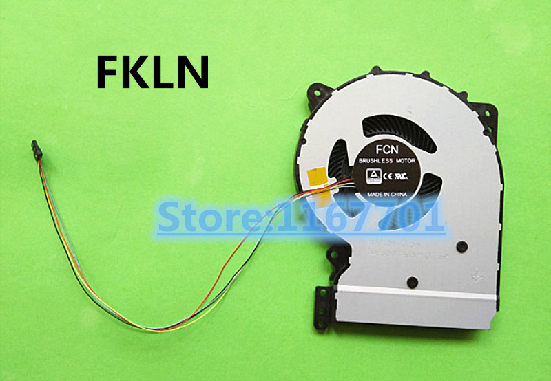 New Original Laptop CPU Cooling Fan For Asus X407 X407U DFS561405PL0T-FKLN 13NB0HQ0T01011 X507 X507U X507UB FKCP 13NB0WI0T01011