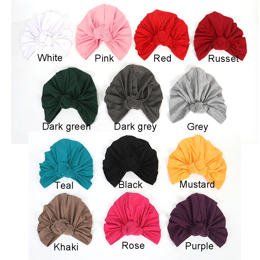 Cotton Muslim Headband For Women Lady Elastic Turban Hat Stretchy Wide Headbands Winter Bandanas Hair Accessories Head Bands
