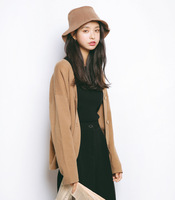 2018 autumn new Korean women's solid color V neck cardigan short sweater short sweater