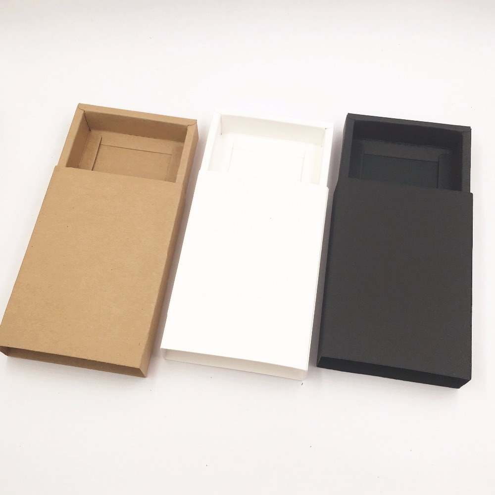 Image 2 - 50pcs/lot Brown Kraft Paper Handmade Drawer Gift Boxes,DIY  Packing Box/Packing Case For CandyCakeJewelryGiftchocolatecase  forcase casecase pack
