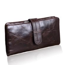 2017 Genuine Leather Men Wallets High Quality Men Purse Fashion Male Long Phone Wallet Man's Clutch Bags New Design