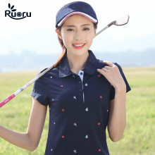 Ruoru 2018 New Plus Size M - 4XL Polo Shirt Women Blue Summer Short Sleeve Femininas Shirts Cotton